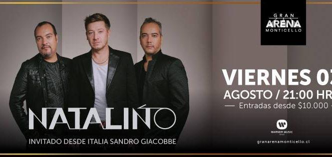 El esperado gran regreso de NATALINO, quienes llegan desde Italia premiados con el European Latin Music Award