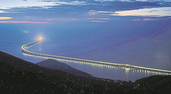 CHINA inaugura el puente más largo del mundo, que unirá el continente con Hong Kong